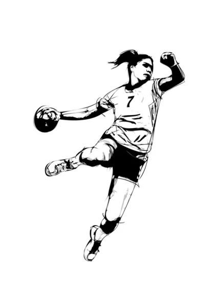 vektorgrafiken handball vektorbilder