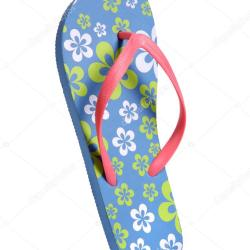 37bb0713c0b479 Flip Flops With Flowers Stock Photo Romarioien  41417467