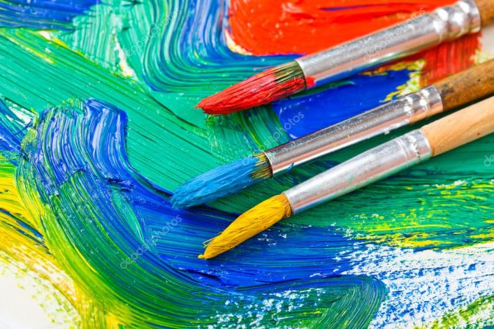 Image result for paints and brushes