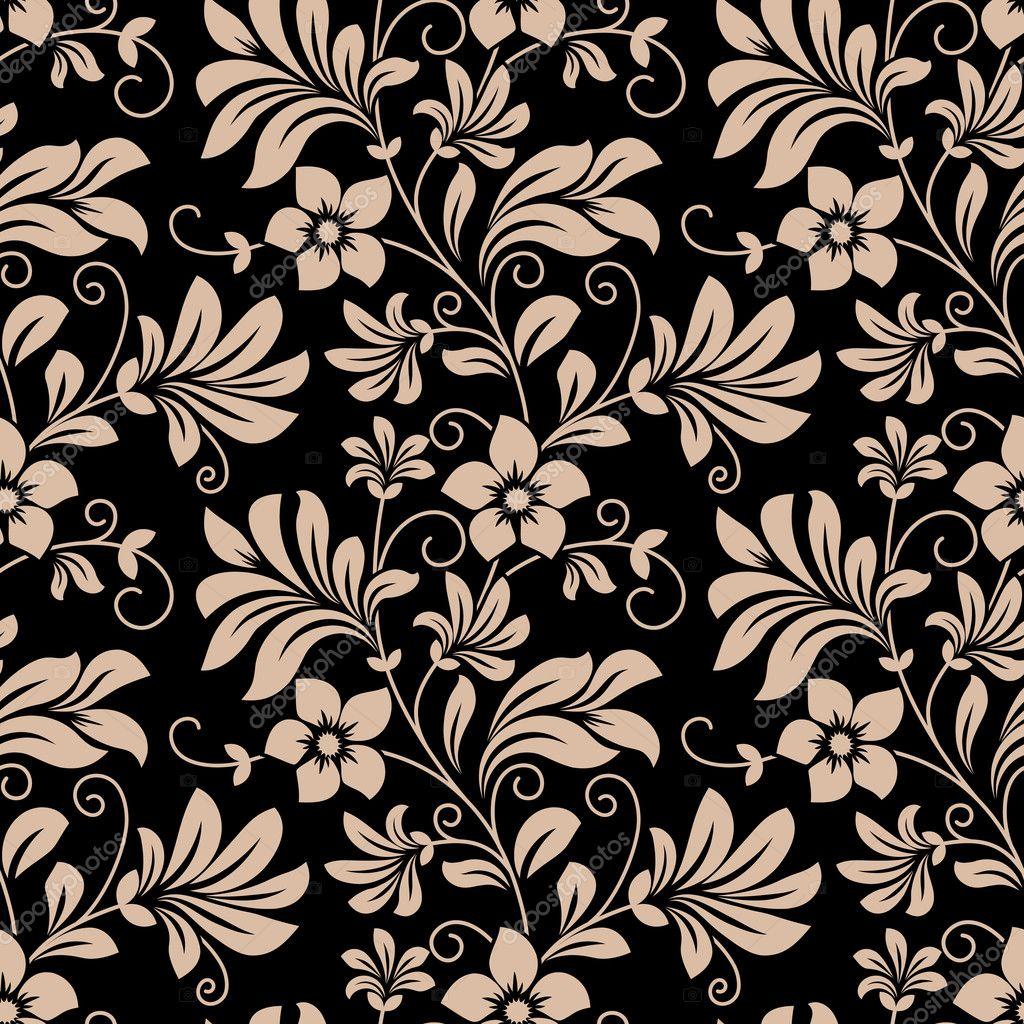Vintage Floral Wallpaper Seamless Pattern Stock Vector C Seamartini 46567083