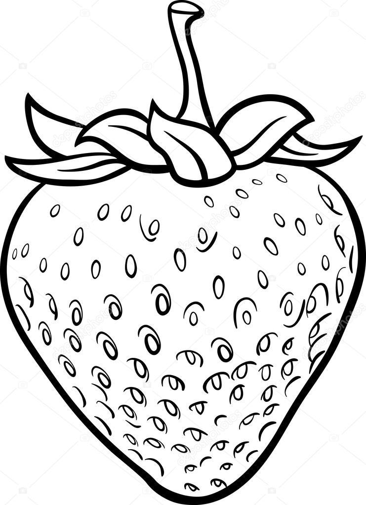 fraise illustration pour livre de coloriage image vectorielle