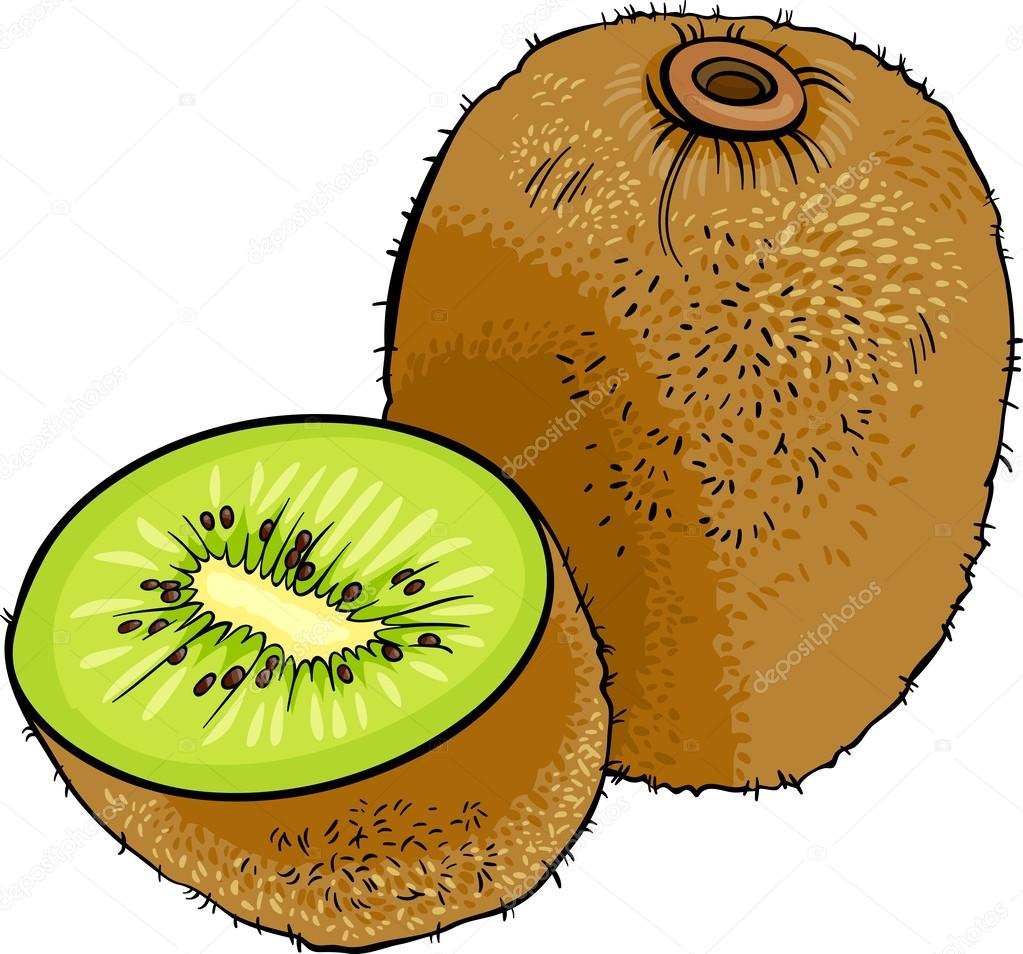 Kiwi Fruit Cartoon Illustration Stock Vector Izakowski