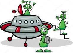 Resultado de imagen de extraterrestres nave dibujo