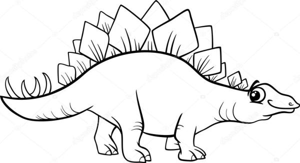 stegosaurus coloring page # 13