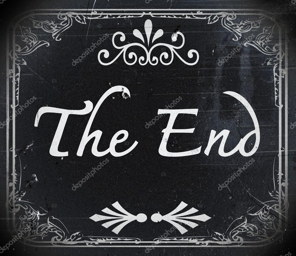 The End Movie Screen Stock Photo Porjai 22680259
