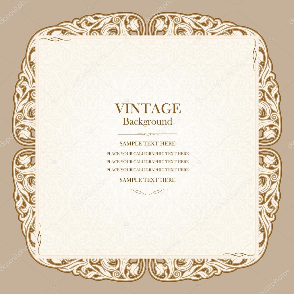 https depositphotos com 48227677 stock illustration vintage background elegant wedding invitation html