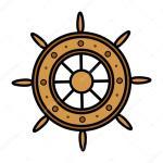 Old Ship Wheel Vector Illustration Vector Image By C Baavli Vector Stock 29939651