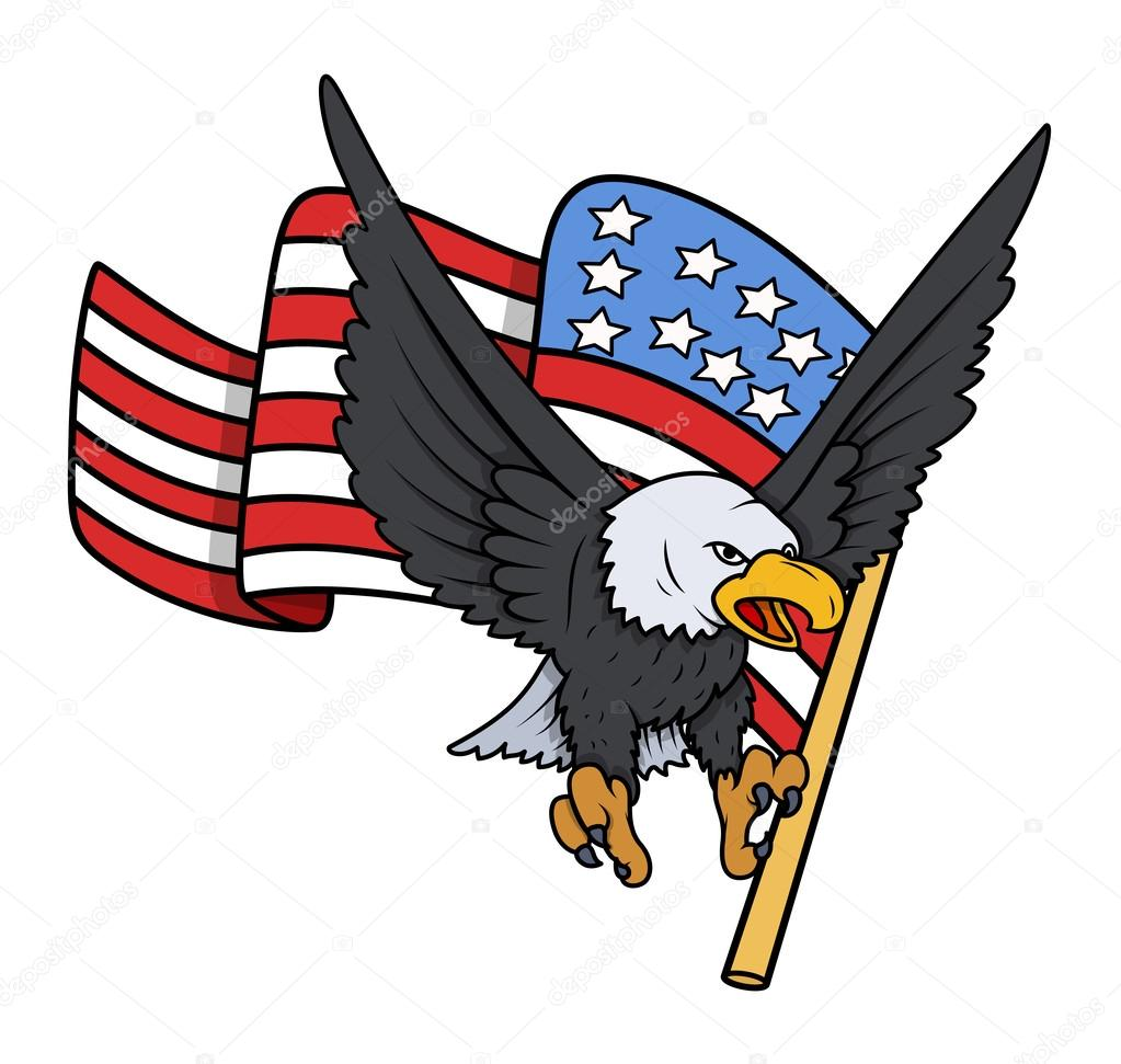 Drawings Easy Patriotic Bald Eagle With American Flag Patriotic Vector Stock Vector C Baavli 30895323