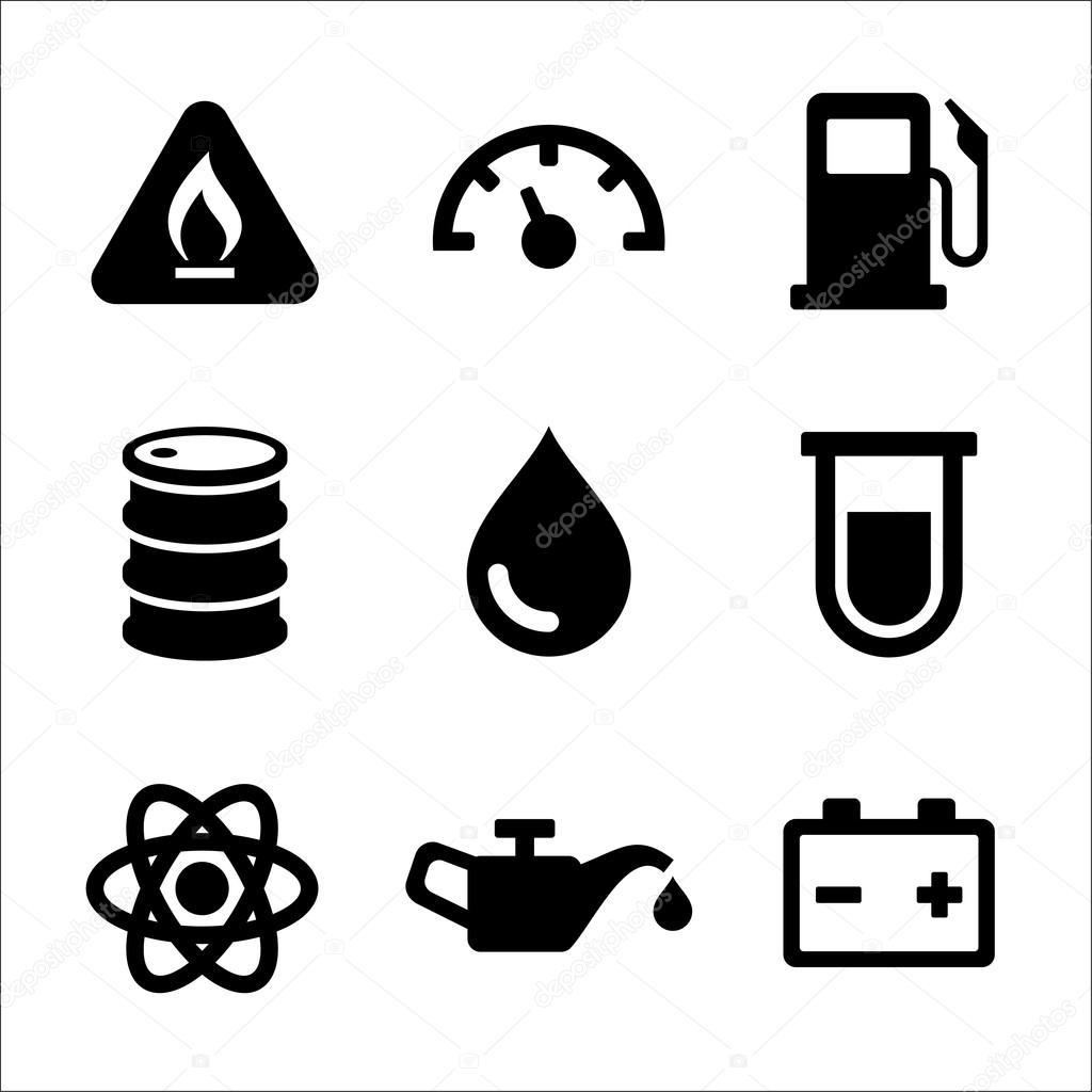 Essencesel Carburant Station Service Icones Definies