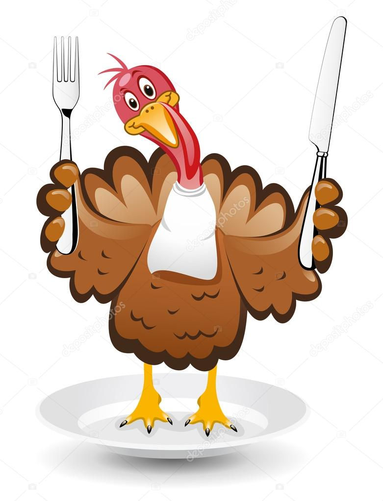 Vector turkey clipart for thanksgiving day — Stock Vector ... (781 x 1023 Pixel)