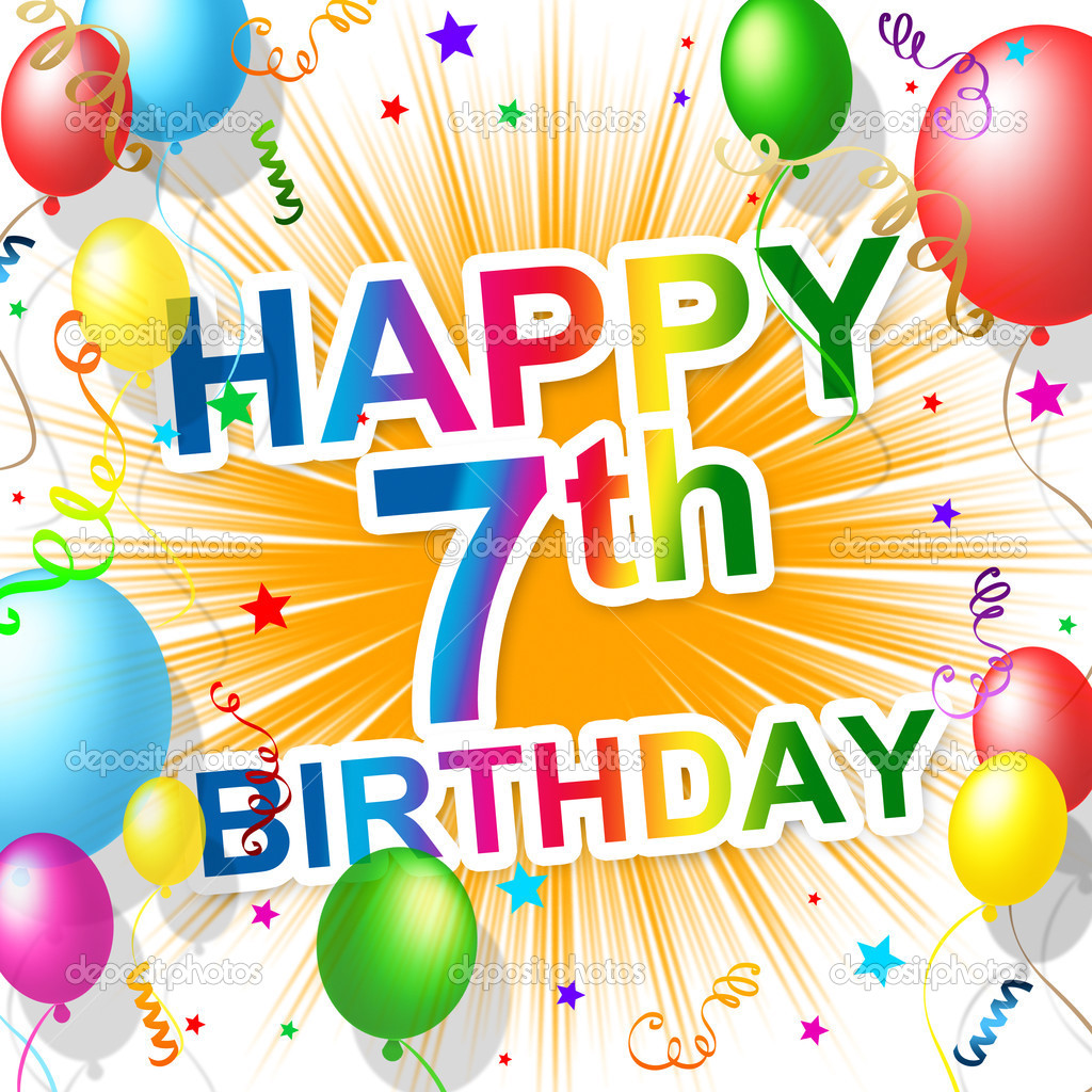 Birthday Seventh Represents Happiness 7 And Celebration Stock Photo Image By C Stuartmiles 49085523