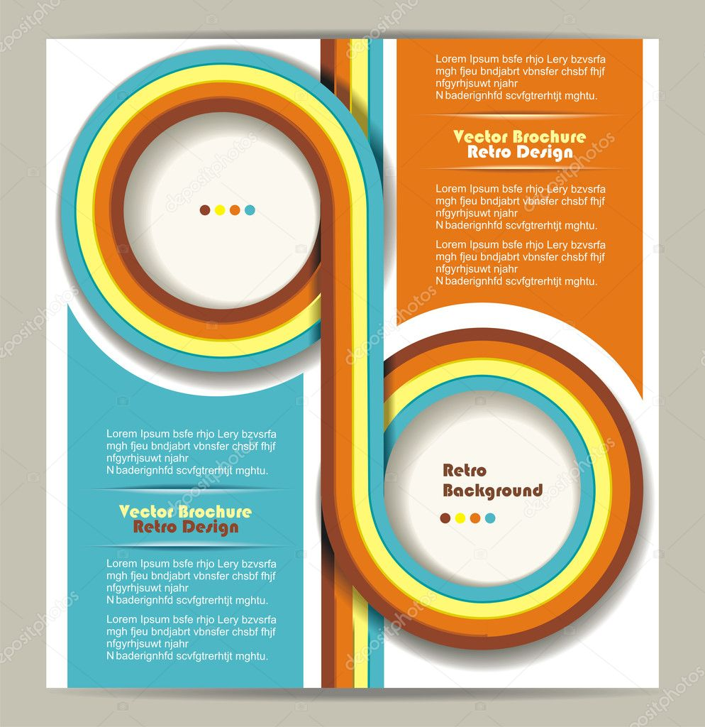 Brochure Design With Grungy Retro Background Stock Vector C Success Er 15431075