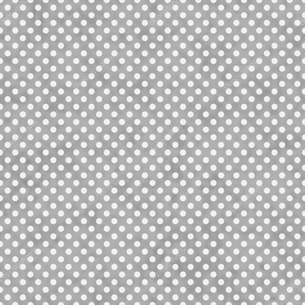 Light Gray And White Small Polka Dots Pattern Repeat