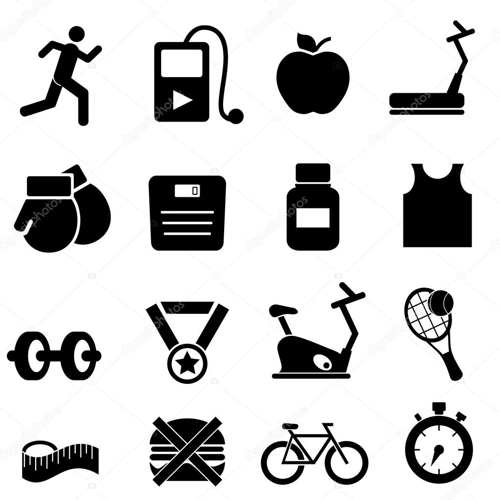 Fitness Health Andt Icons