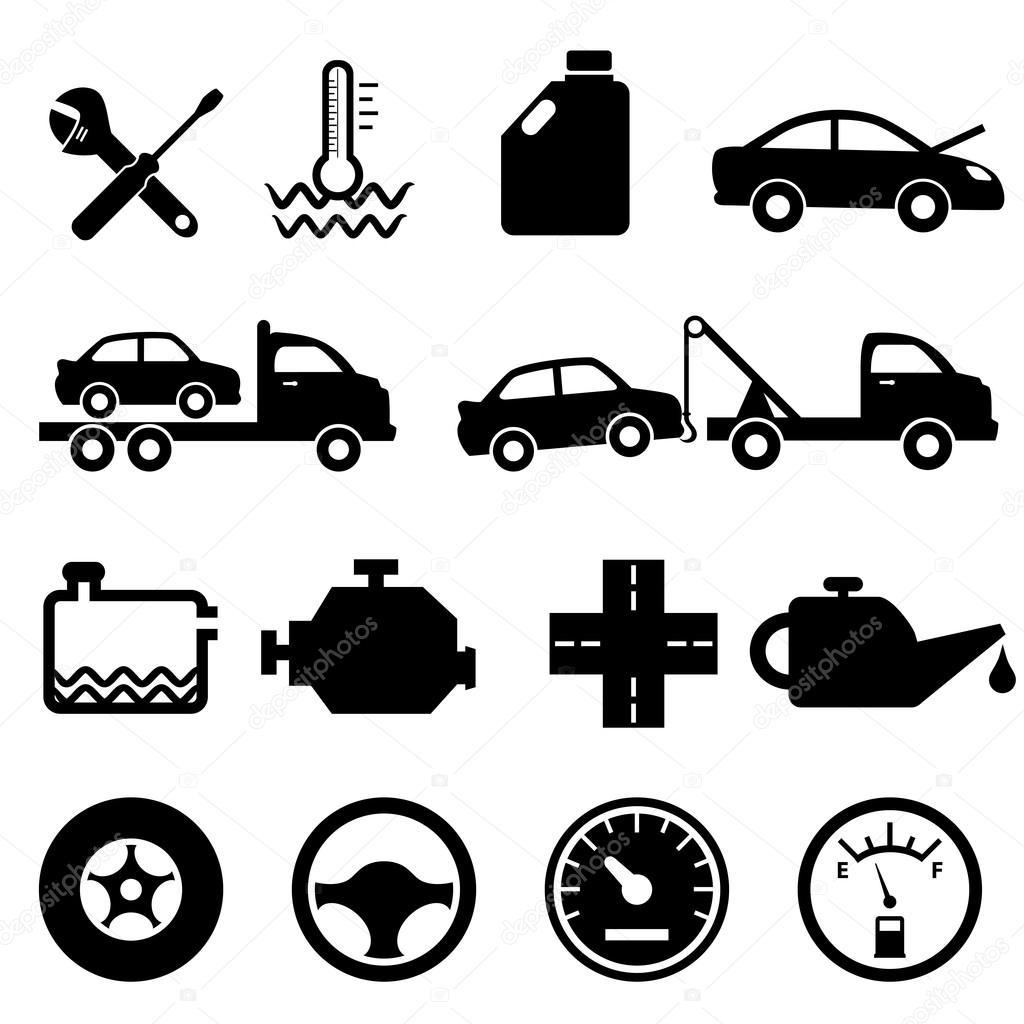 Car Mechanic And Maintenance Icons