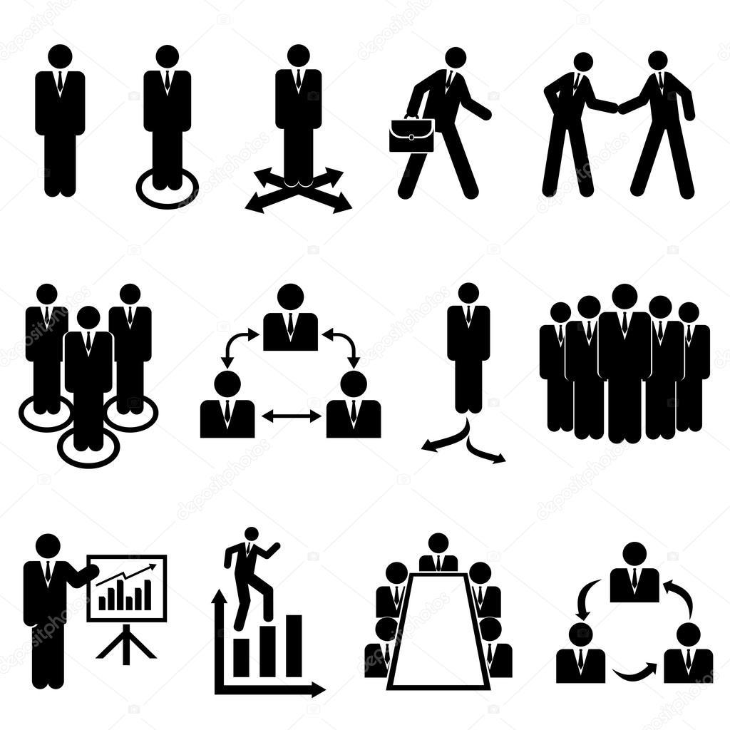 Businessmen Teams And Teamwork