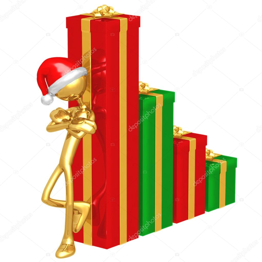 Christmas Profits Bar Graph