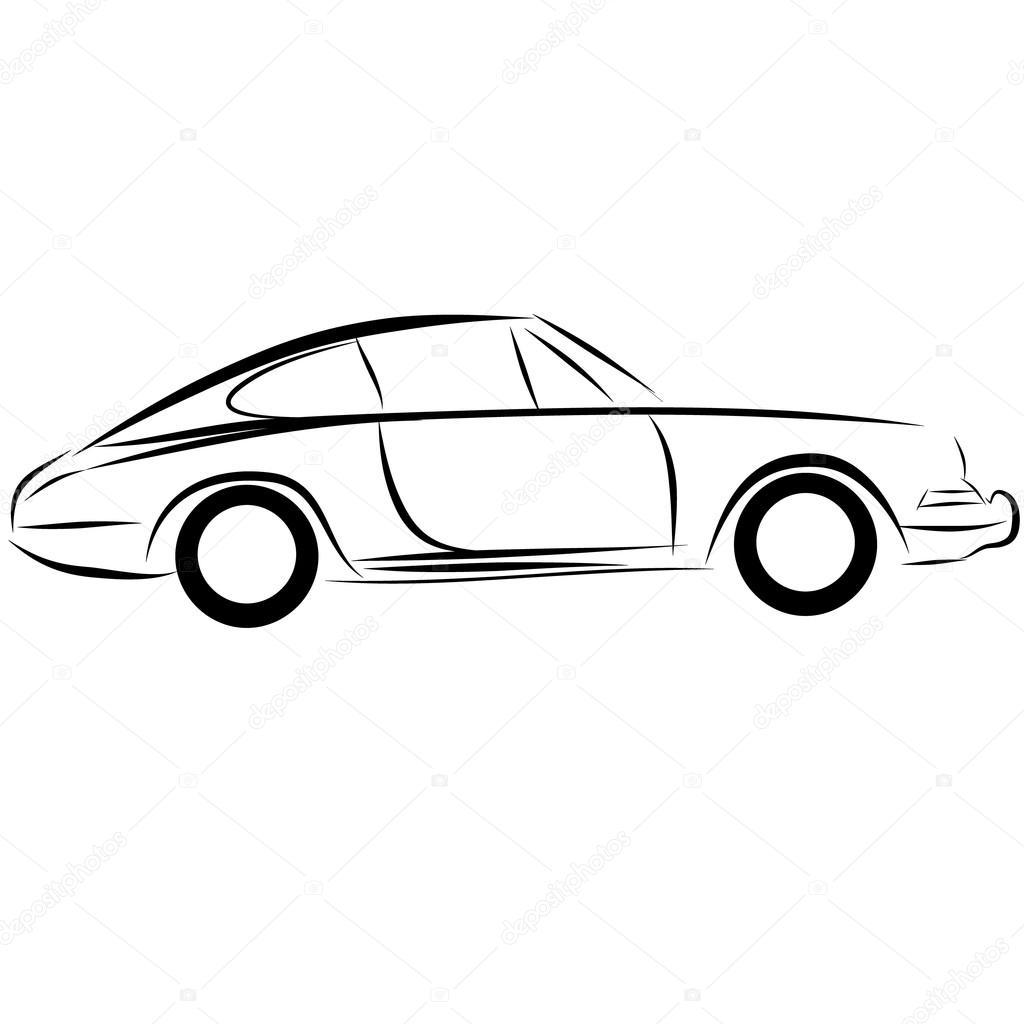 Dessin Au Trait Logo Auto Automobile