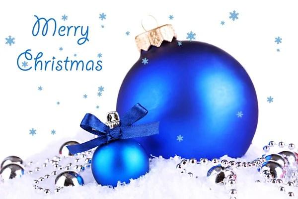 Blauw Zilver Kerstballen Stockfoto Anterovium 9352268