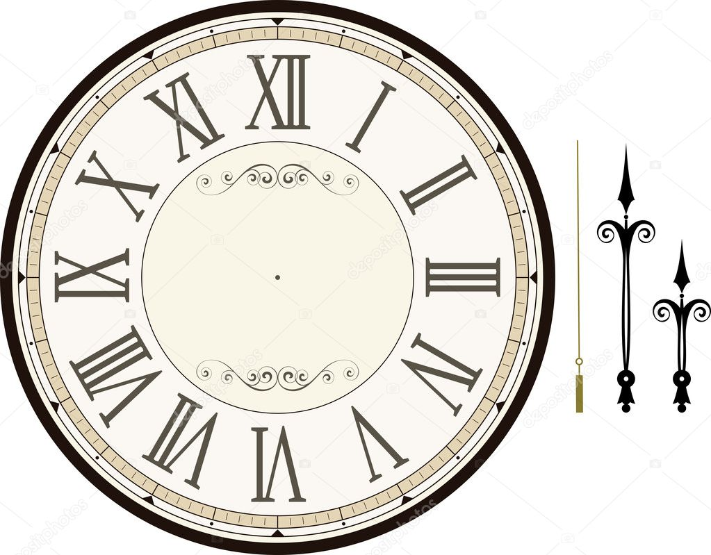 Make Your Own Clock Face Template Vintage Clock Face Template Stock Vector C Hayaship 28131425