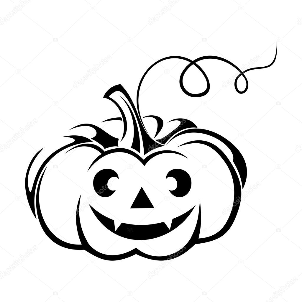 Jack O Lantern Black And White