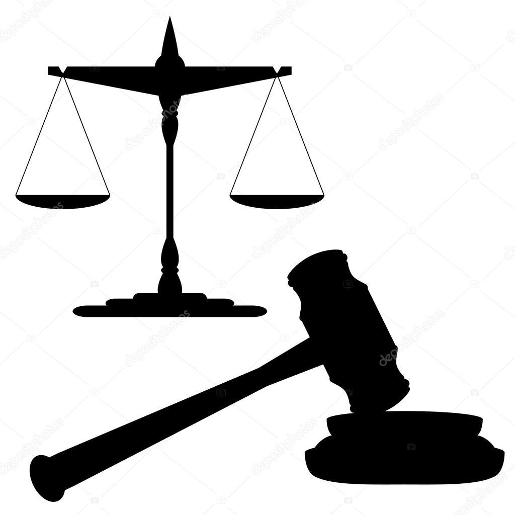 Balanza De La Justicia Y El Martillo