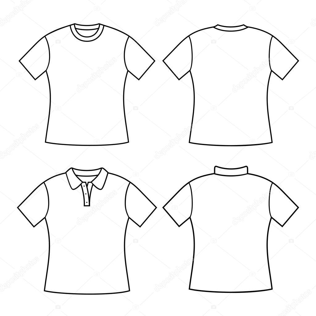 T Shirt Vrouw Terug Voor En Achter