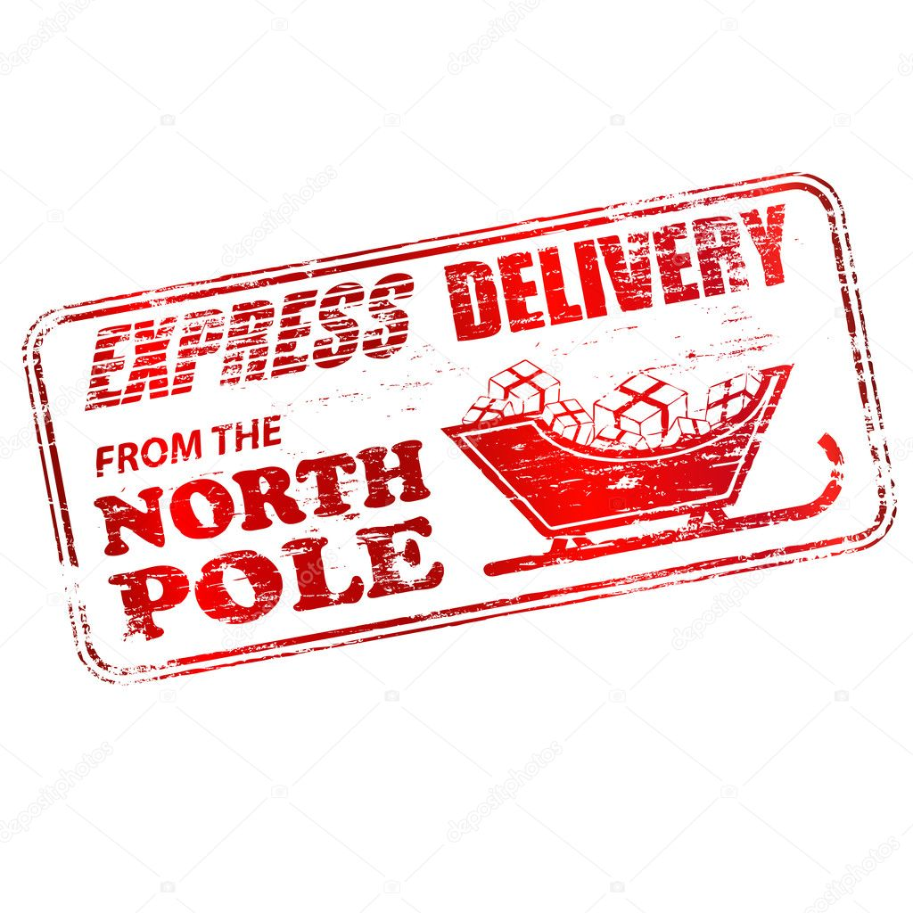 Northpole Stamp Template