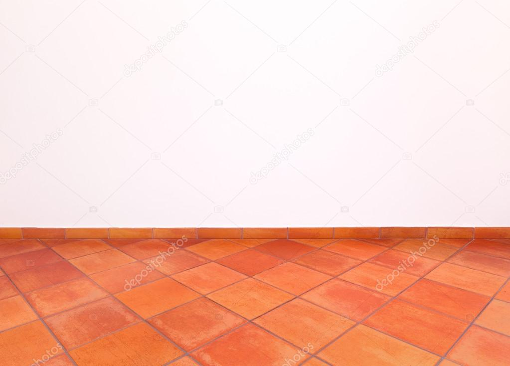 tuscan traditional old grunge floor red tiles and white wall stock photo image by c stevanzz 12840040