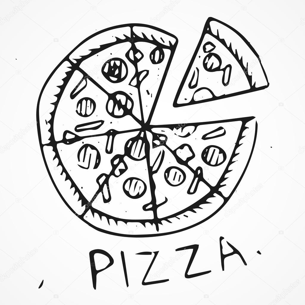 Hand Drawn Pizza