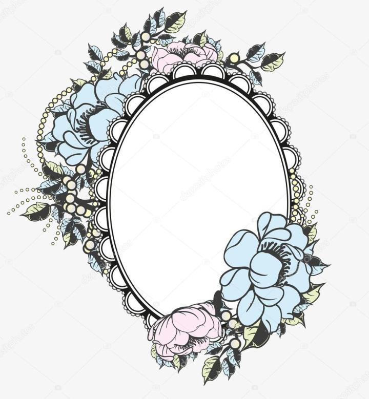 Oval Picture Frame Template Vector Frameswall