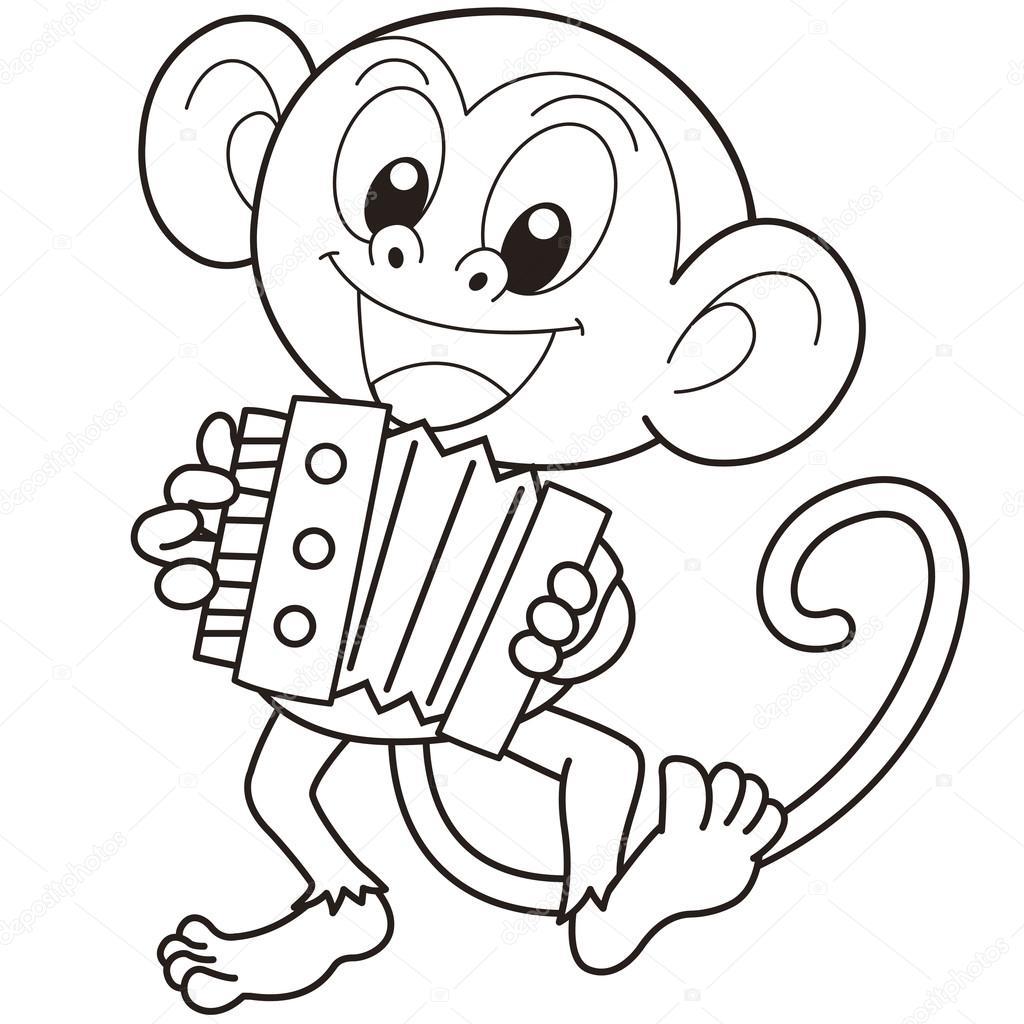 Monkey Playing Accordion
