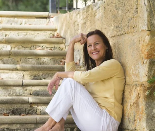 Relaxed Smiling Mature Woman Outdoor Stock Photo
