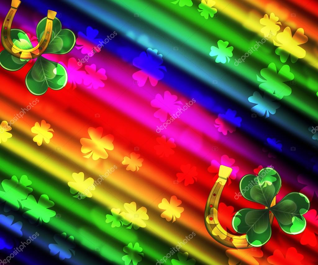 St Patrick S Day Rainbow Background