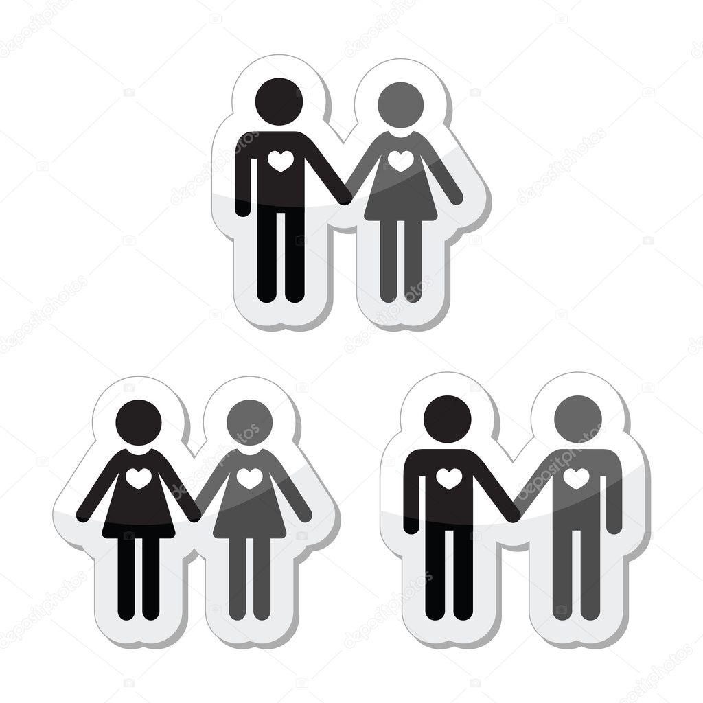 Resultado de imagem para silhuetas de amor hetero , gay