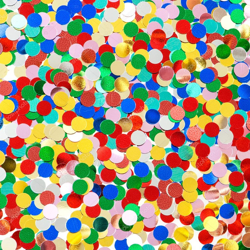 Confetti Background Red Blue Green Yellow