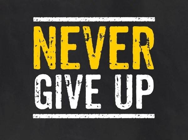 Foto Never give up, immagini Never give up da scaricare | Foto stock -  Depositphotos