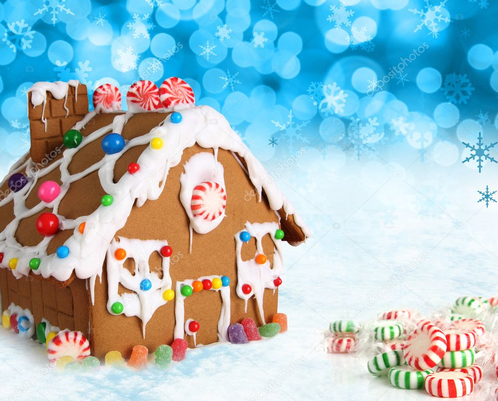 gingerbread houses christmas snow