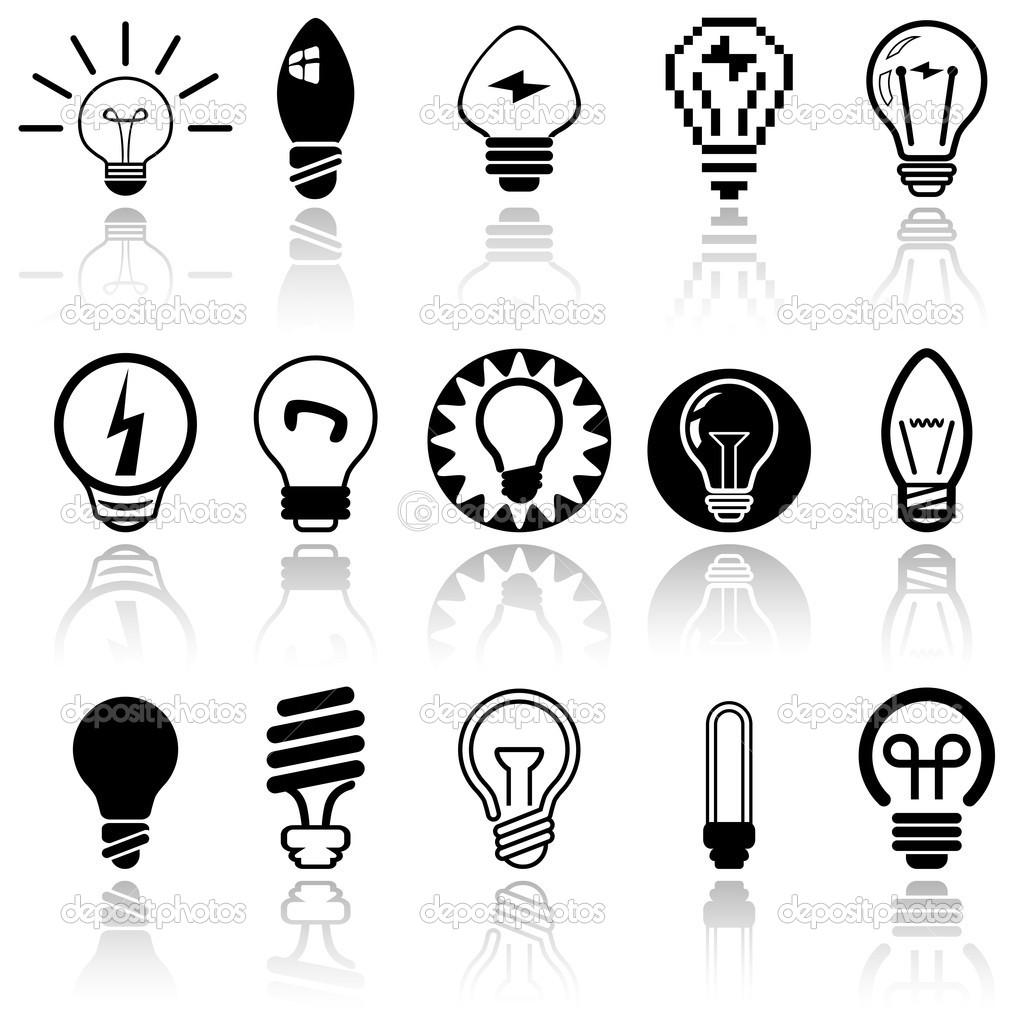 Light Bulbs Vector Icons Set