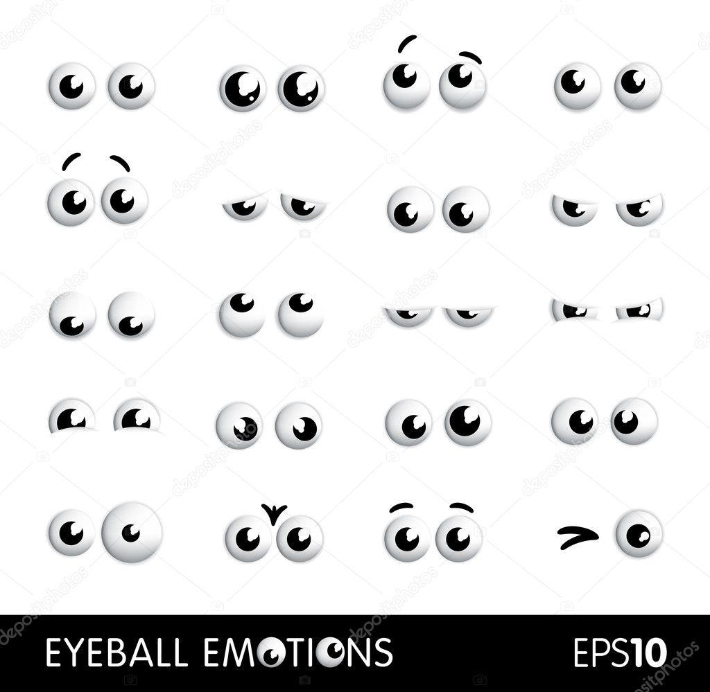 Vector Funny Cartoon Eyes