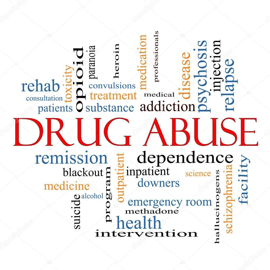Drug Abuse Word Cloud Concept