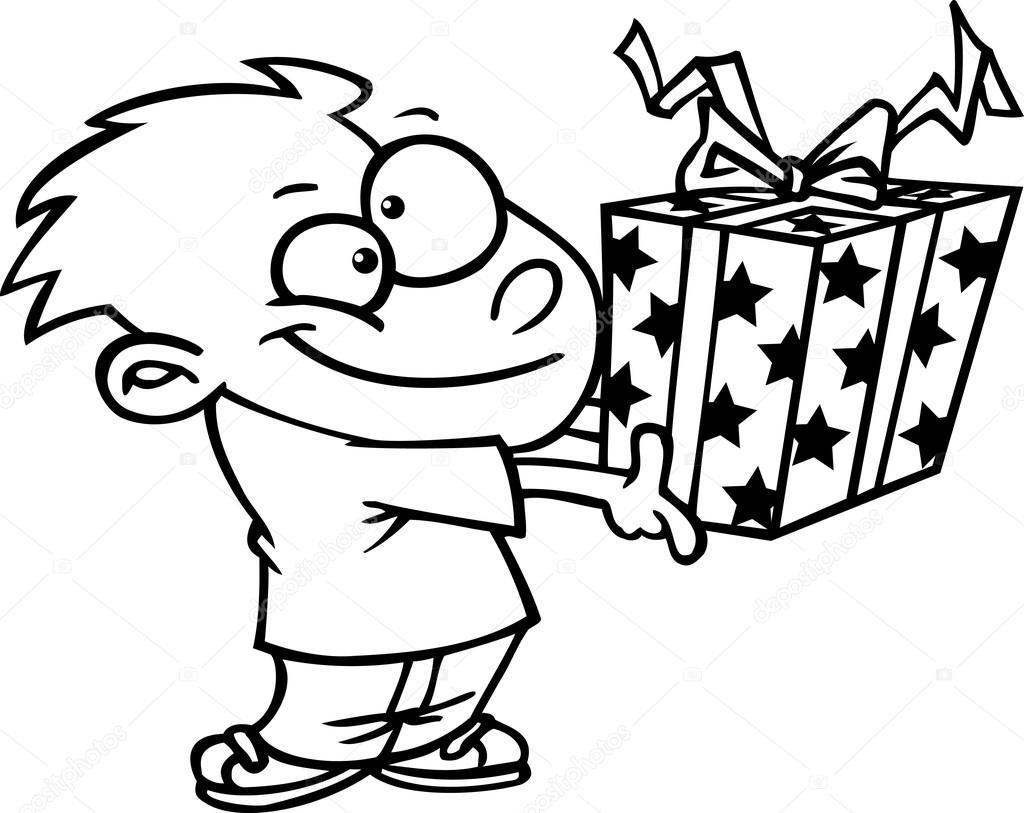 Cartoon Boy Giving A T