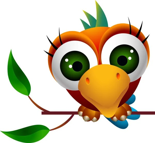 papuga ptak w dżungli grafika wektorowa dagadu 5711877