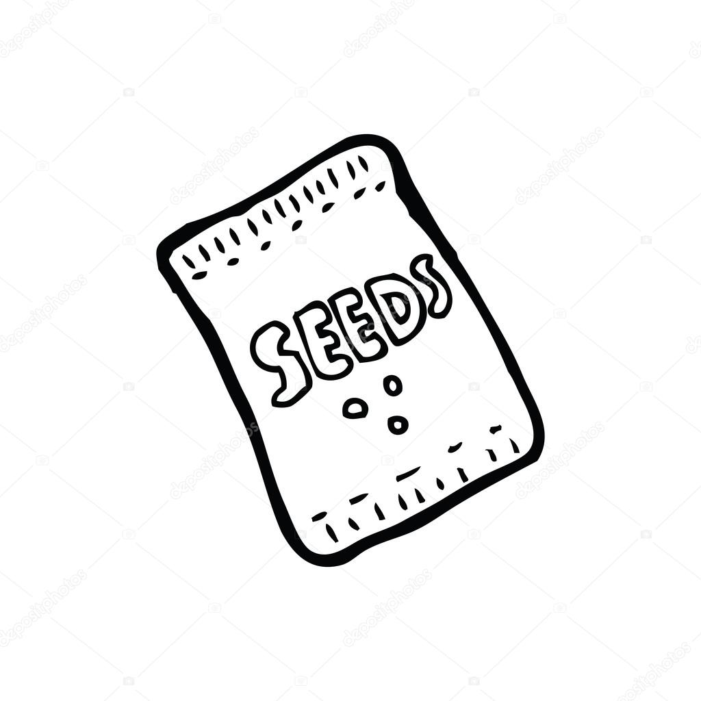 Cartoon Seed Packet