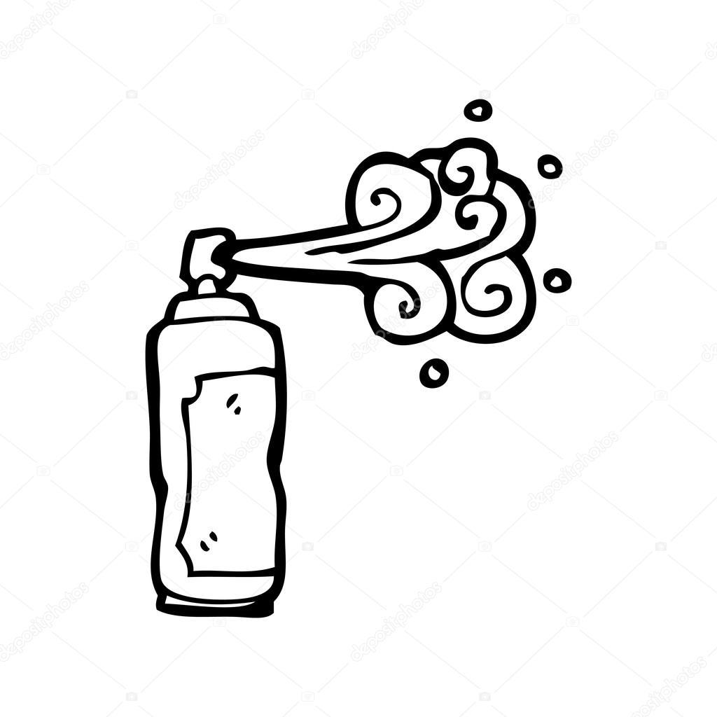 Spray Can Cartoon