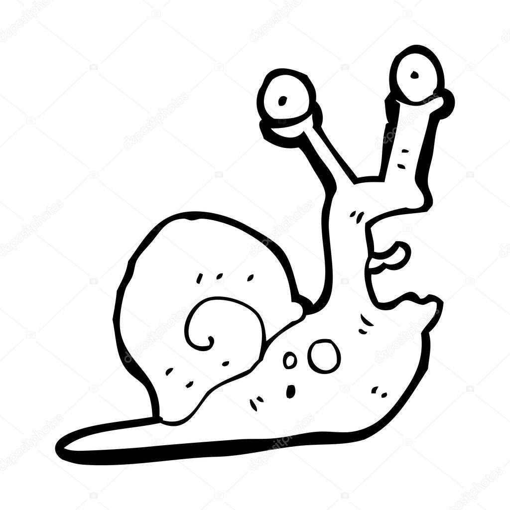 Scared Snail Cartoon