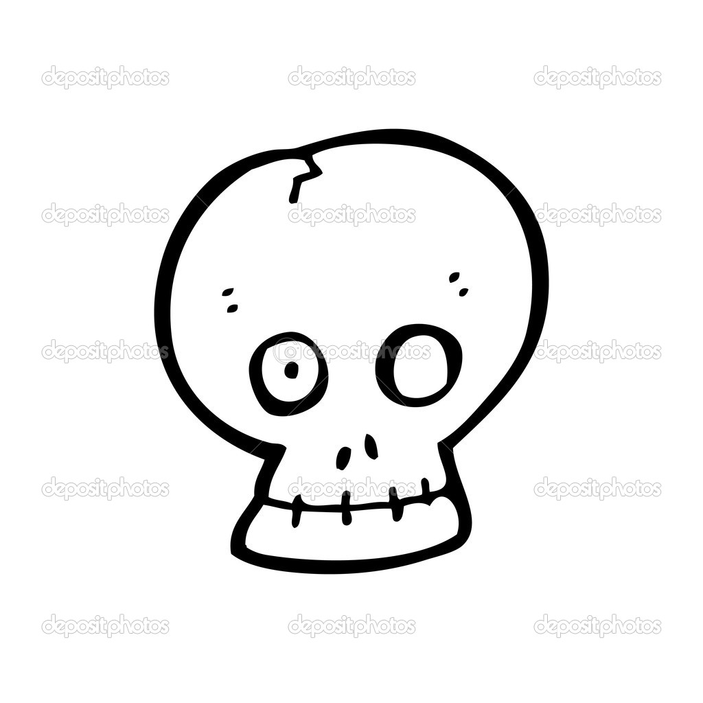 Spooky Skull Cartoon