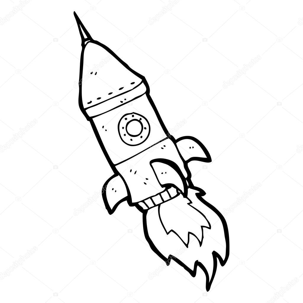 Desenho De Foguete Espacial