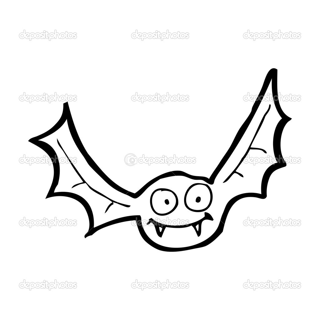 Happy Vampire Bat Cartoon