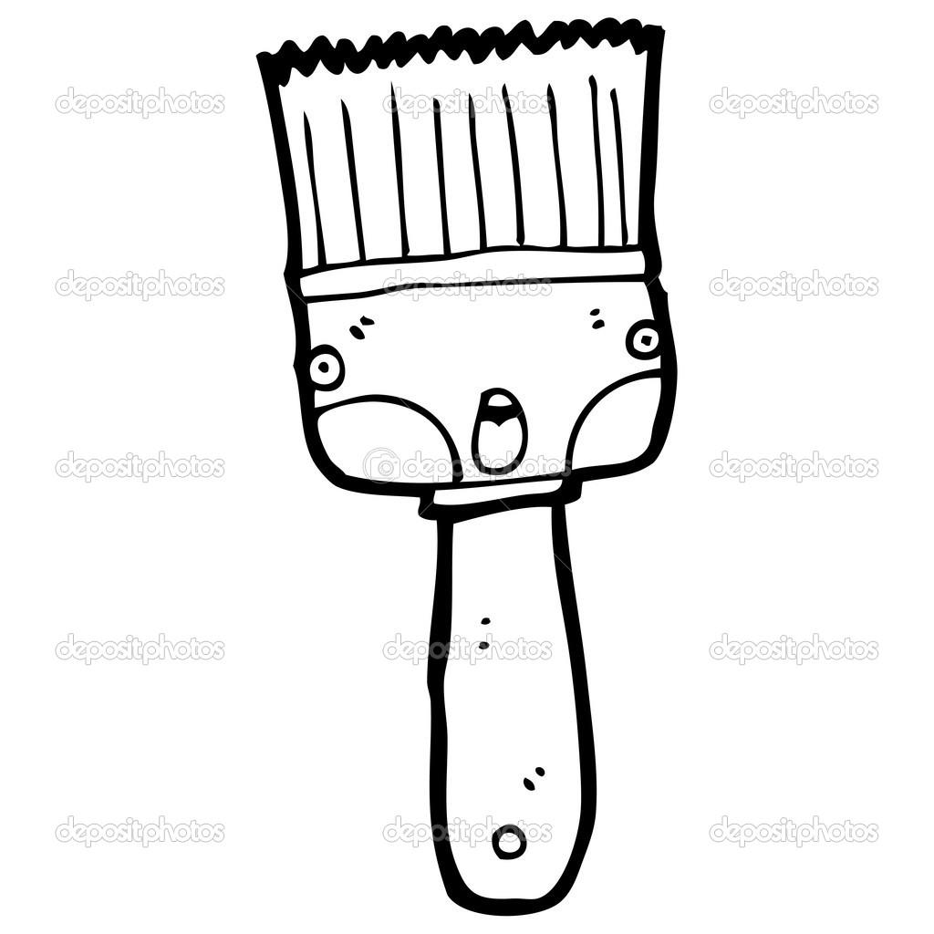 Shocked Cartoon Paintbrush